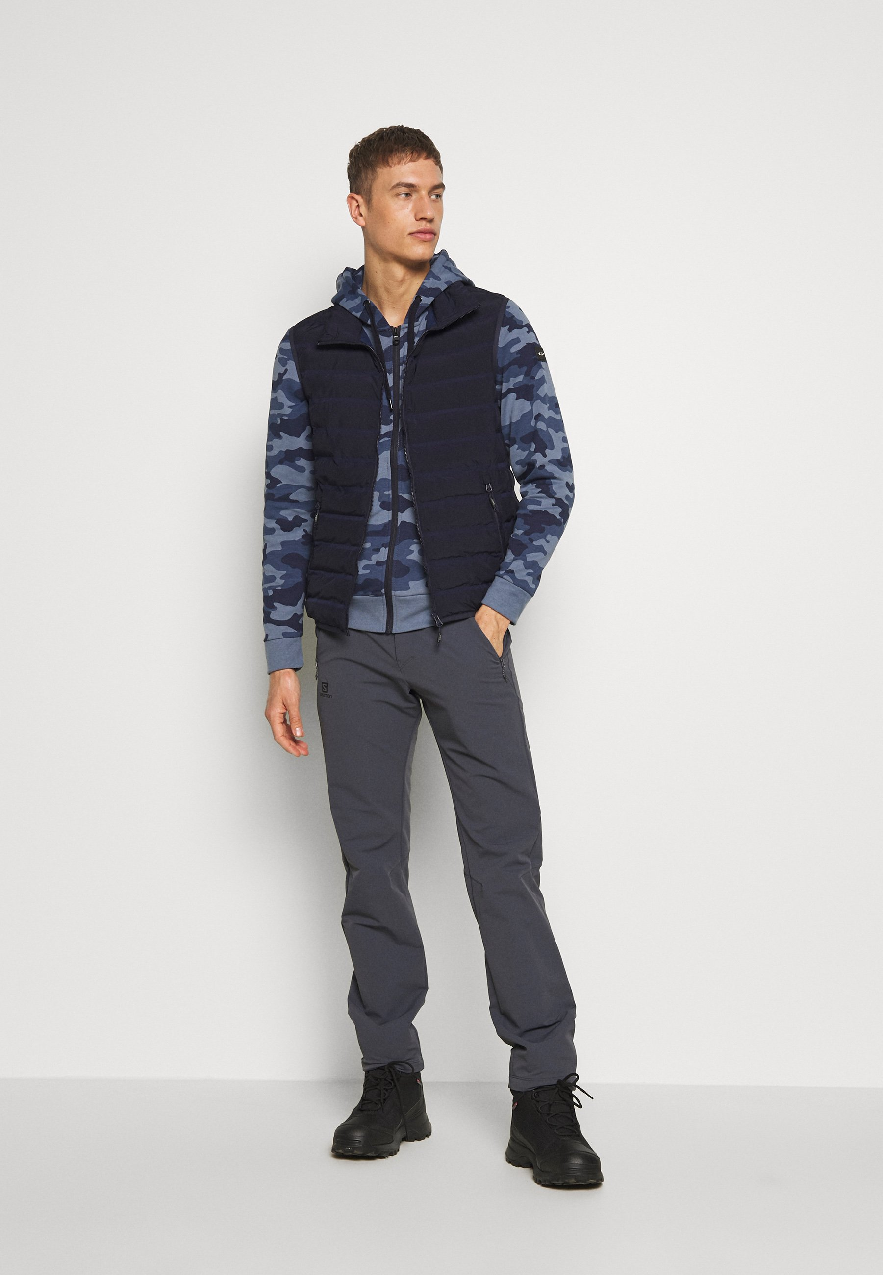 Cmp Man Jacket Fix Hood - Sweatshirt Avio/dark Blue