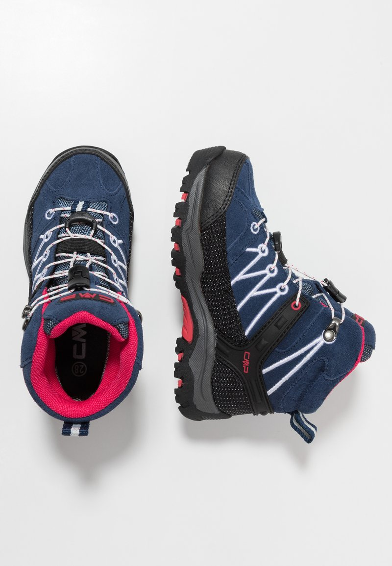 CMP - KIDS RIGEL MID SHOES WP - Hiking shoes - marine/corallo
