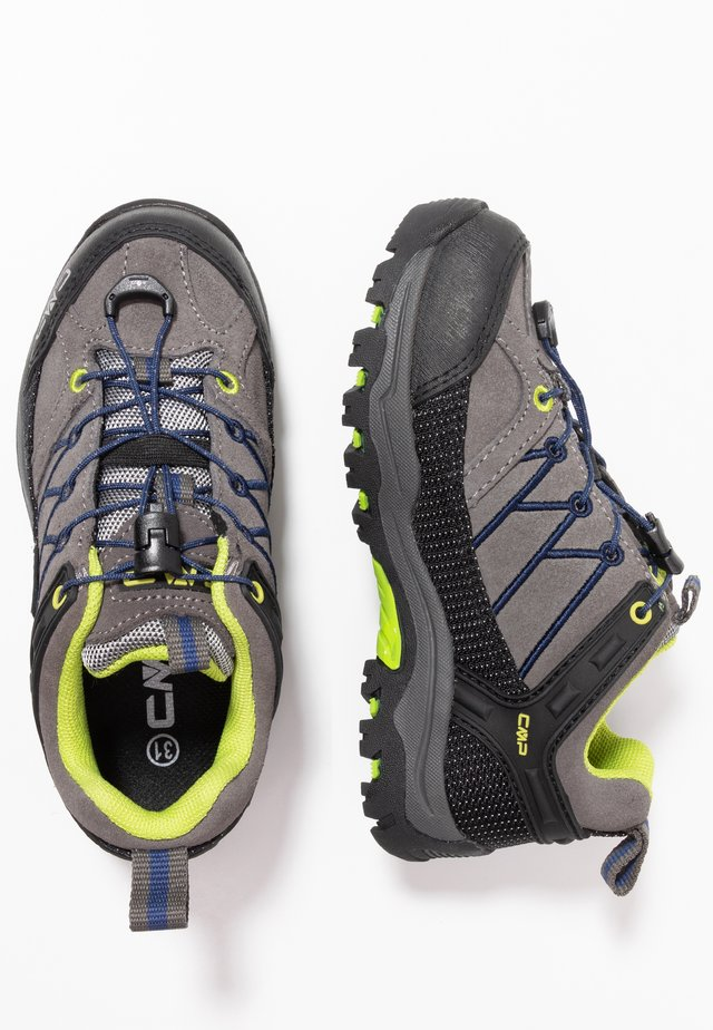 KIDS RIGEL LOW SHOES WP UNISEX - Hiking shoes - graffite/marine