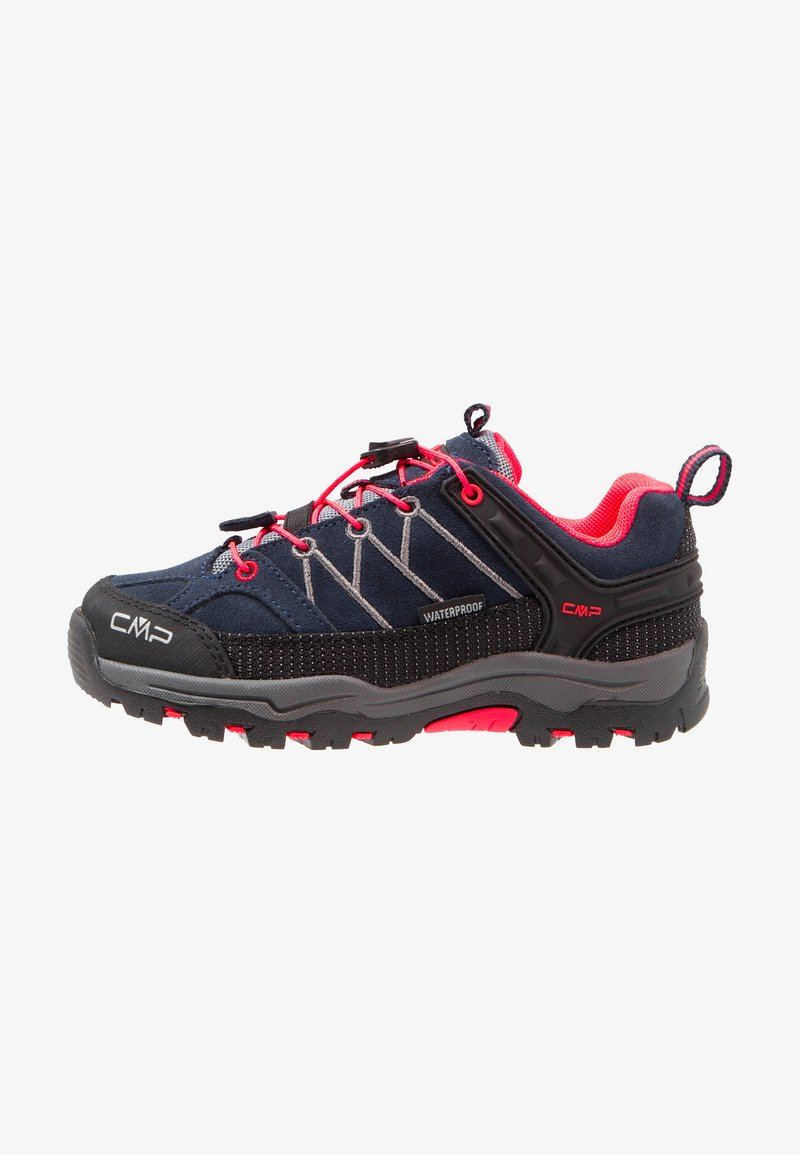 CMP - KIDS RIGEL LOW SHOES WP - Fjellsko - antracite/red fluo