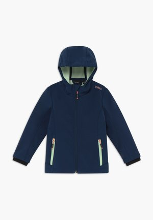 GIRL FIX HOOD - Softshellová bunda - blue
