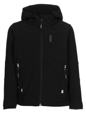 BOY JACKET FIX HOOD - Softshelljas - nero