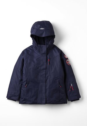 GIRL JACKET FIX HOOD  - Snowboardová bunda - black blue
