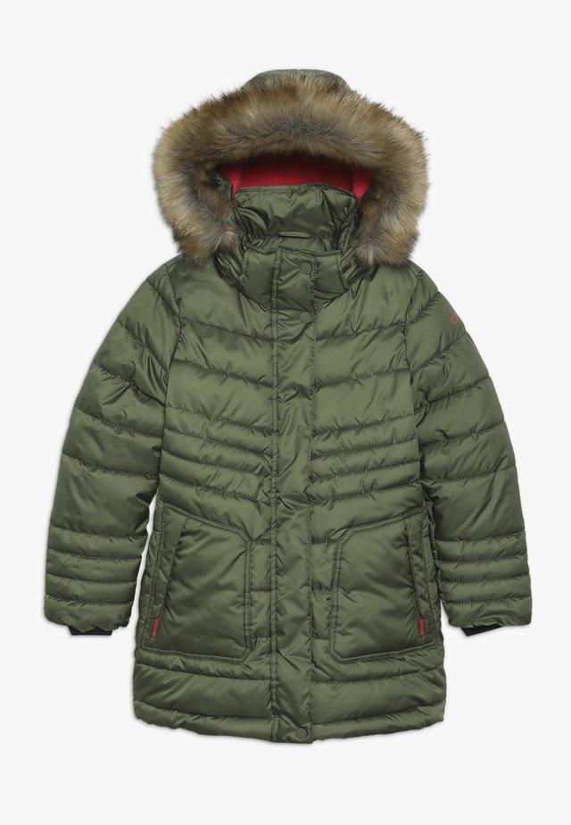GIRL SNAPS HOOD - Winter coat - loden