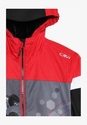 BOY JACKET FIX HOOD - Ski jacket - nero/ferrari