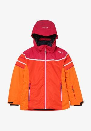 GIRL JACKET FIX HOOD - Ski jacket - bitter