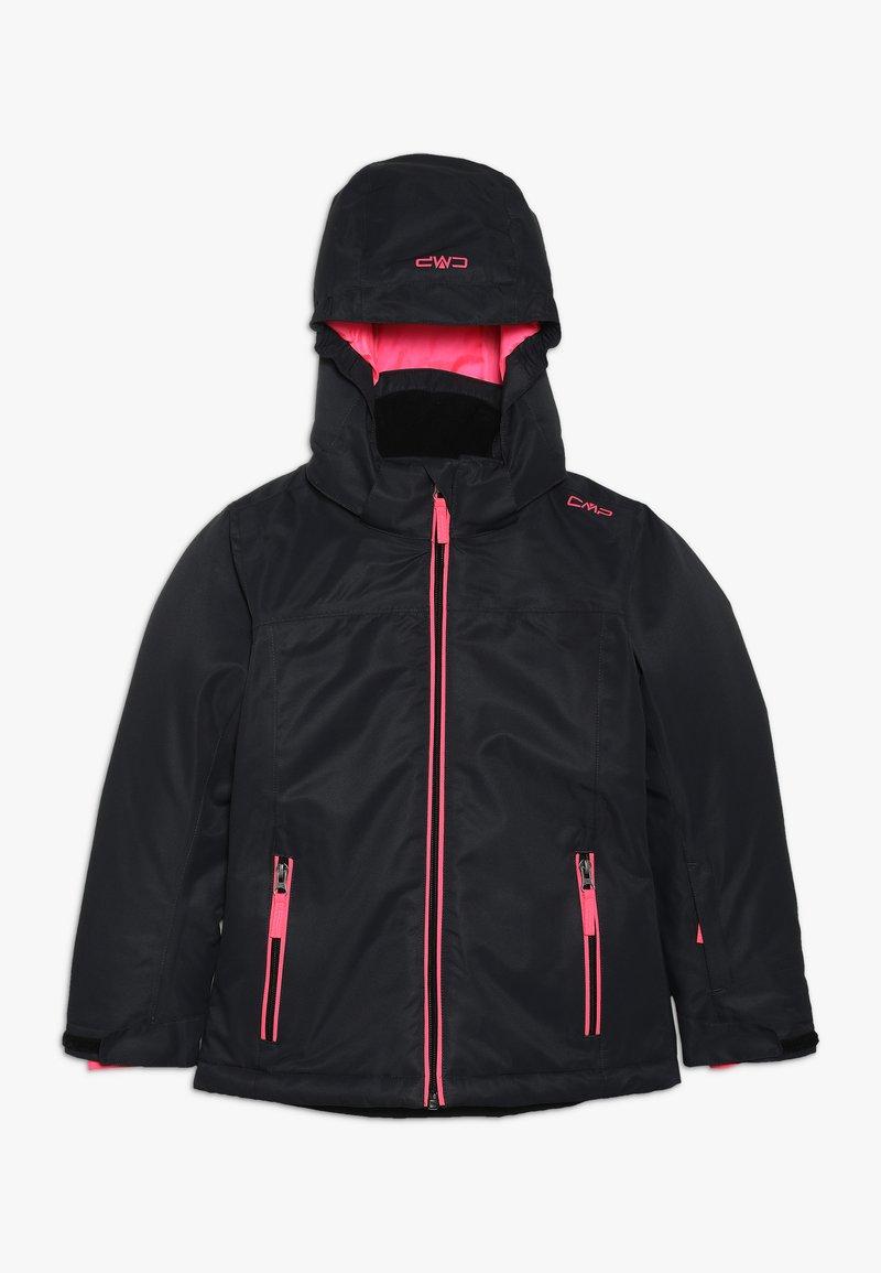 CMP - GIRL JACKET SNAPS HOOD - Lyžařská bunda - antracite