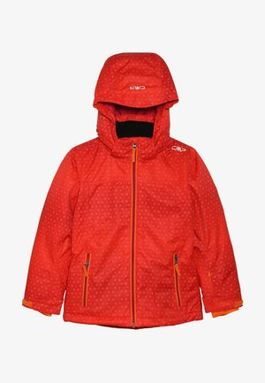 GIRL JACKET SNAPS HOOD - Veste de ski - bitter-granita-orange
