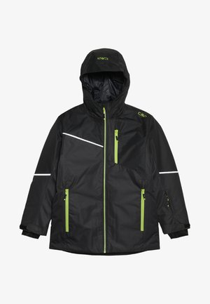 BOY JACKET FIX HOOD - Ski jacket - antracite