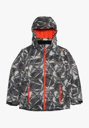 BOY JACKET SNAPS HOOD - Ski jacket - torba/antracite
