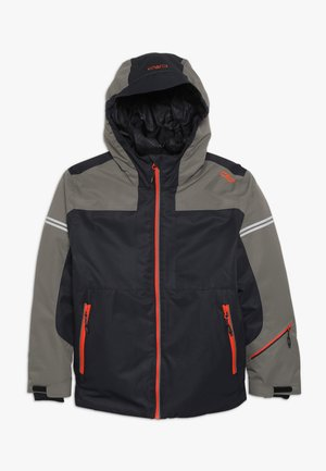 BOY JACKET FIX HOOD - Ski jas - antracite