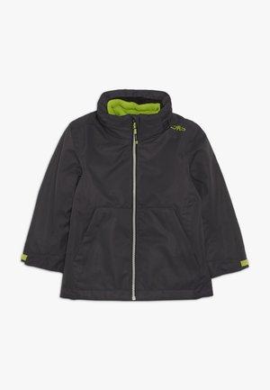 BOY JACKET FIX HODD DETACHBLE INN JACKET 2-IN-1 - Outdoor jacket - antracite