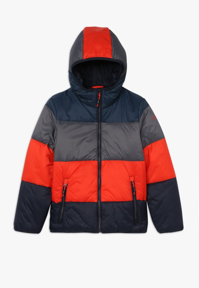 BOY JACKET FIX HOOD - Winter jacket - blue