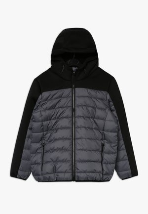 BOY JACKET FIX HOOD - Winter jacket - graffite