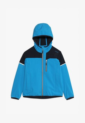 BOY JACKET FIX HOOD - Softshelljas - river