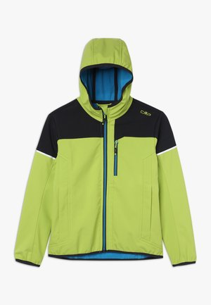 BOY JACKET FIX HOOD - Softshellová bunda - limegreen
