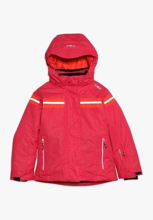 GIRL JACKET SNAPS HOOD - Ski jacket - rhodamine