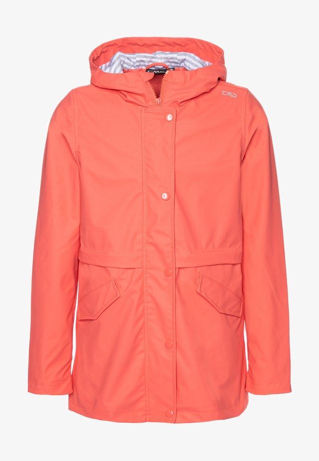 KIDS FIX HOOD - Waterproof jacket - peach