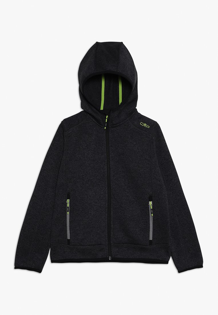 CMP - BOY JACKET FIX HOOD - Forro polar - nero melange antracite