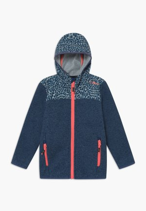GIRL JACKET FIX HOOD - Giacca in pile - blue