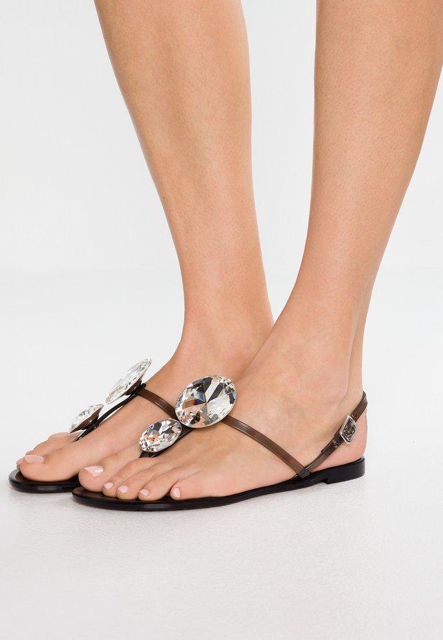 BEACH - T-bar sandals - nero