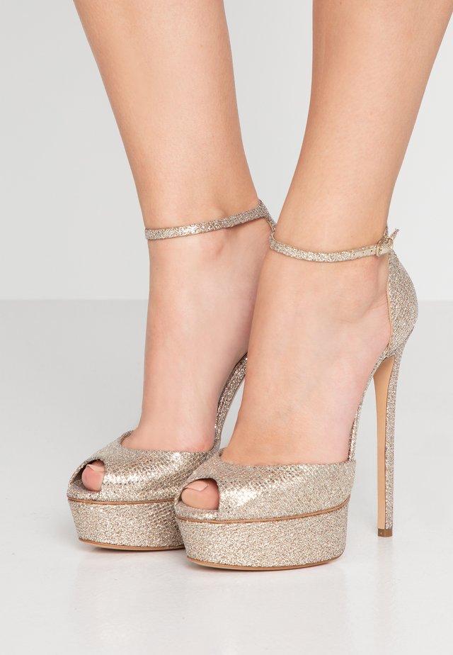 High heeled sandals - fata platino