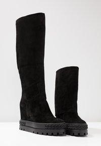 Casadei - Kotníková obuv na vysokém podpatku - renna nero - 7
