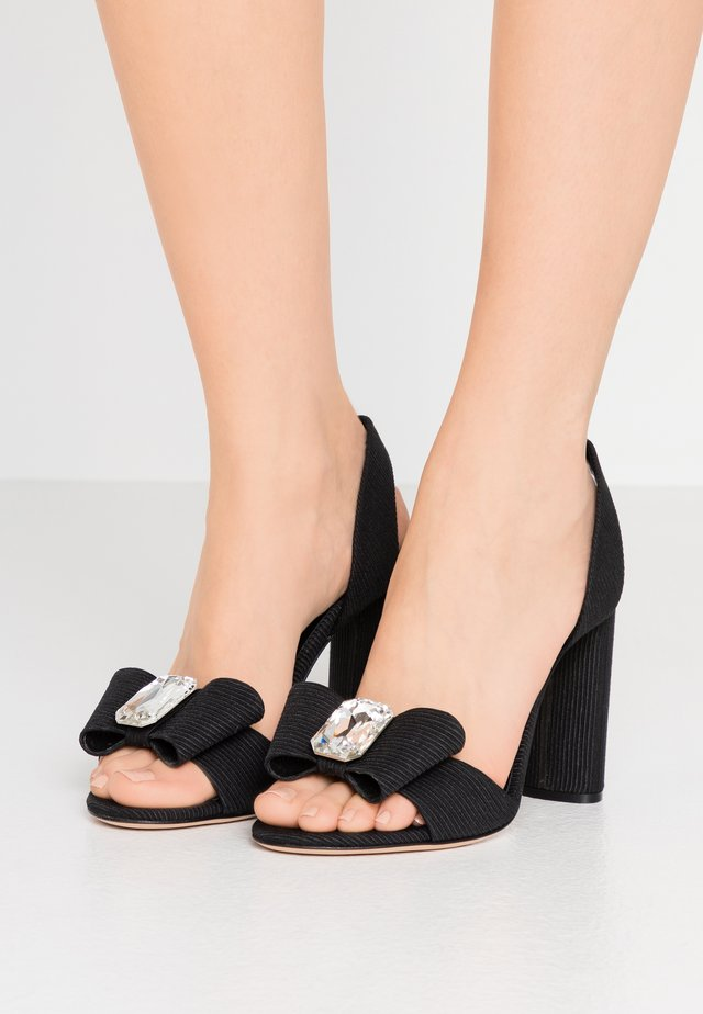 High heeled sandals - canete nero