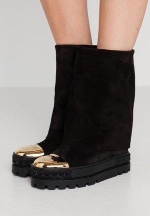 Kotníková obuv na vysokém podpatku - renna nero
