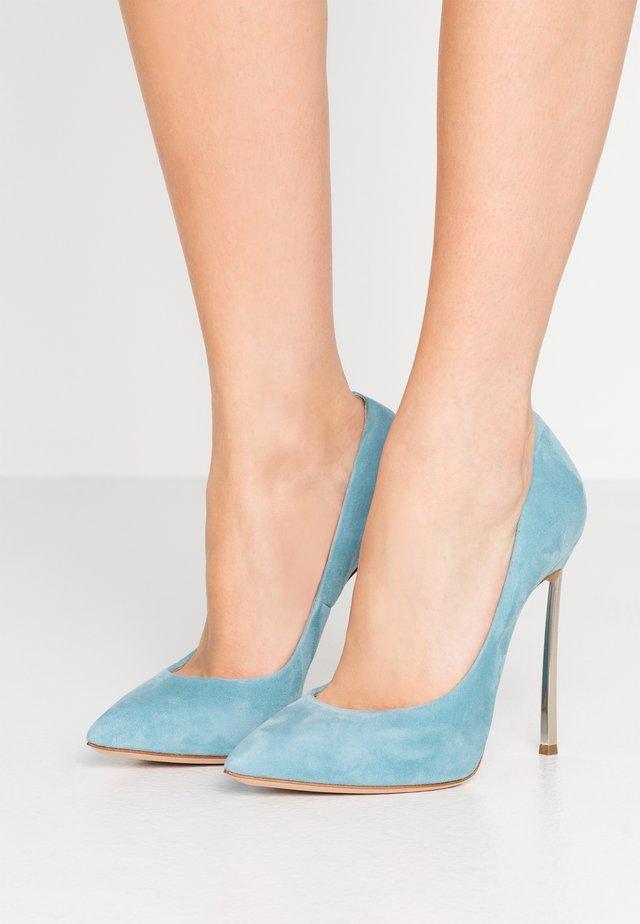 Lodičky na vysokém podpatku - blue bell