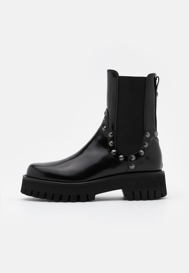 Bottines à plateau - brushed nero
