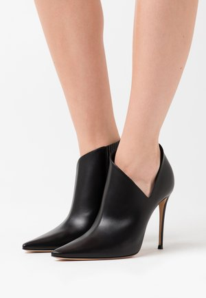 High heeled ankle boots - minorca nero