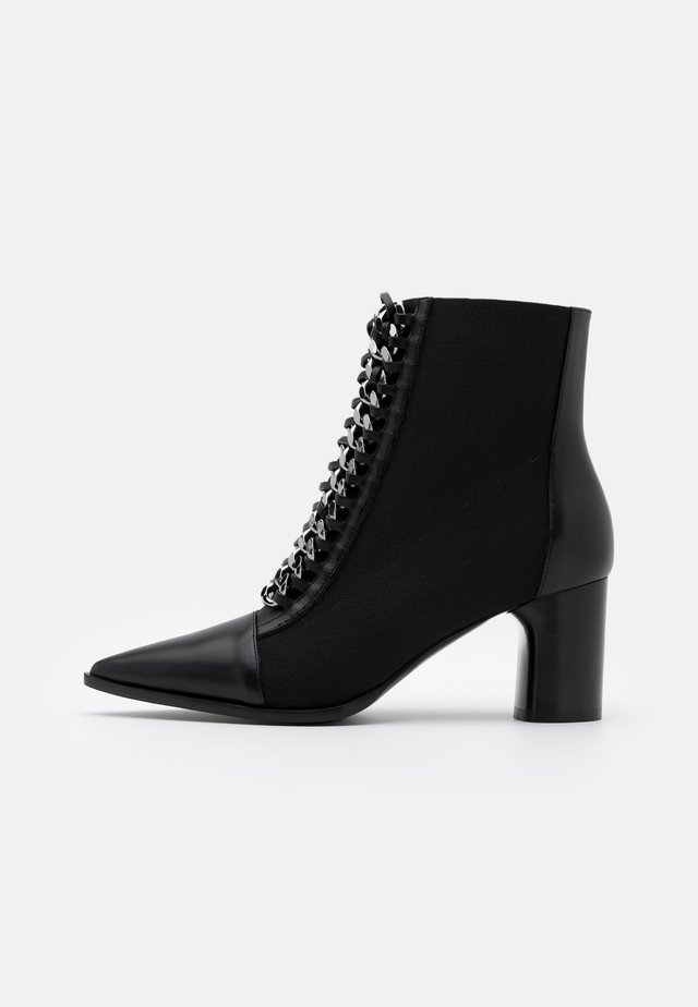 Bottines à lacets - nero