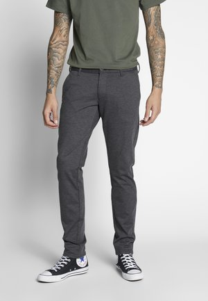 PALO SLIMFIT - Trousers - antra
