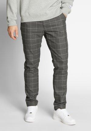 PALO CHECK - Spodnie materiałowe - black