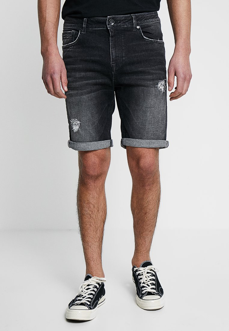 Cars Jeans - TREVOR - Denim shorts - black used