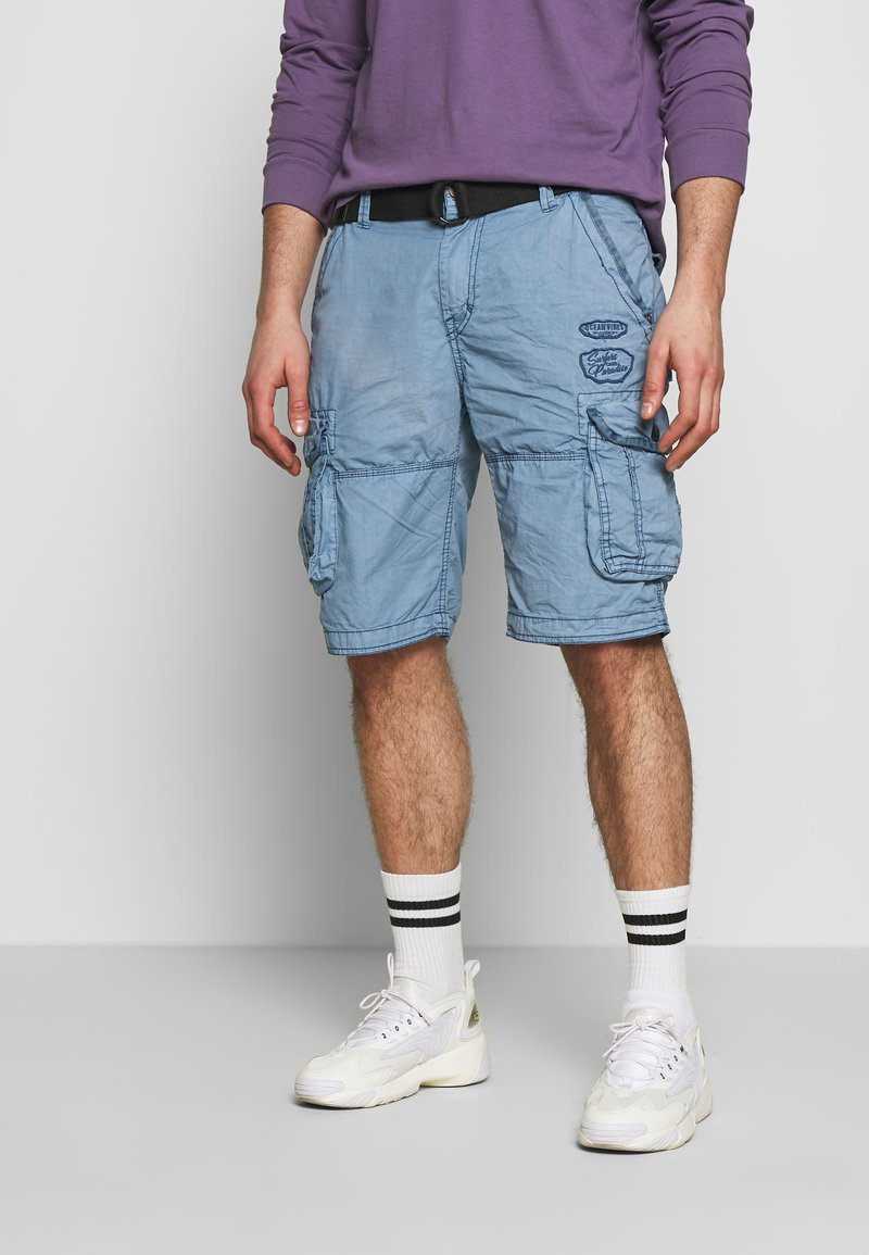 Cars Jeans - DURRAS - Shorts - grey blue