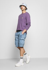 Cars Jeans - DURRAS - Shorts - grey blue - 1