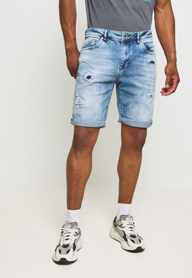 BECKER - Jeans Shorts - blue denim