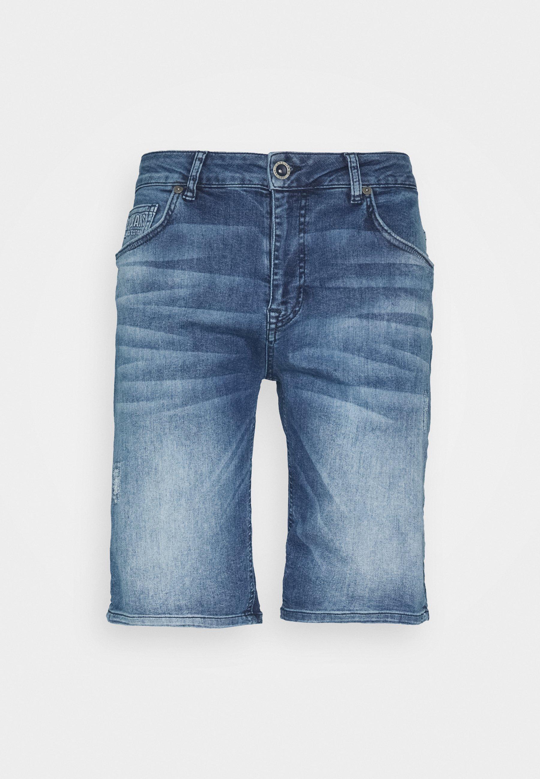 Cars Jeans TREVON - Szorty jeansowe - blue denim