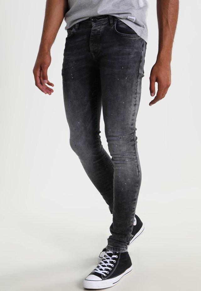 DUST - Skinny džíny - black
