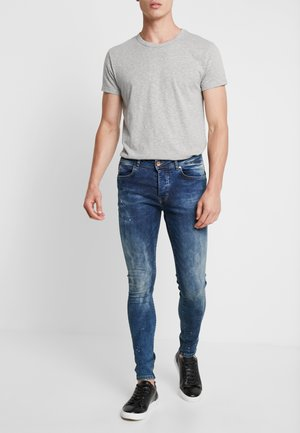 DUST - Jeansy Skinny Fit - blue dots