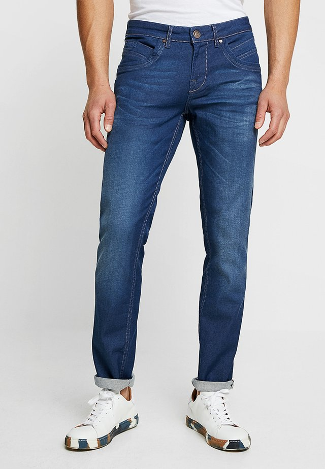 HENLOW - Straight leg jeans - coated pale blue