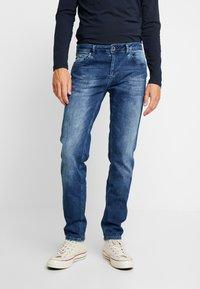 Cars Jeans - THRONE - Džíny Slim Fit - dark used - 0