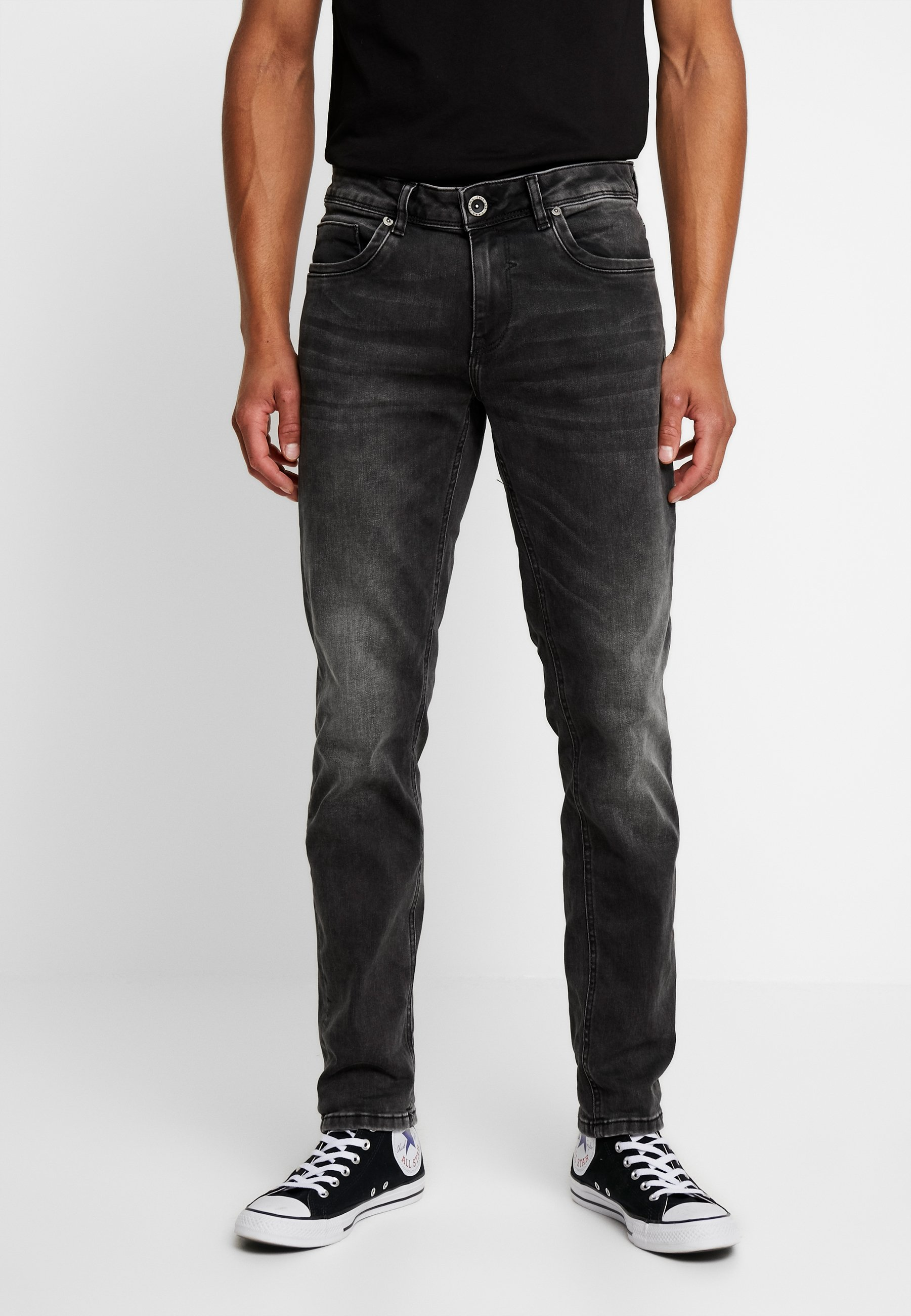Cars Jeans THRONE - Jeansy Slim Fit - black used