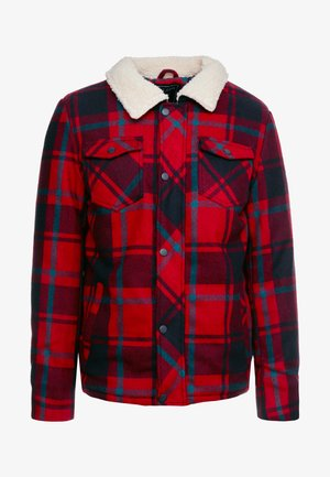 CHECK - Winter jacket - red