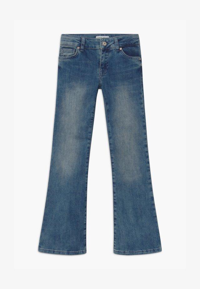 VERONIQUE - Bootcut jeans - blue denim