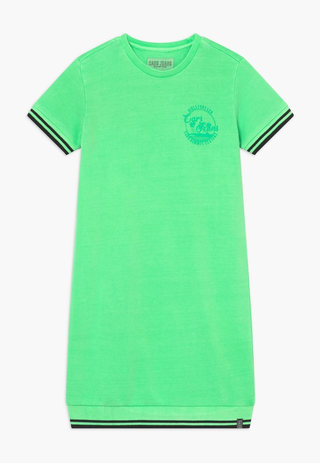 KIDS PRAISLEY DRESS - Freizeitkleid - neon green
