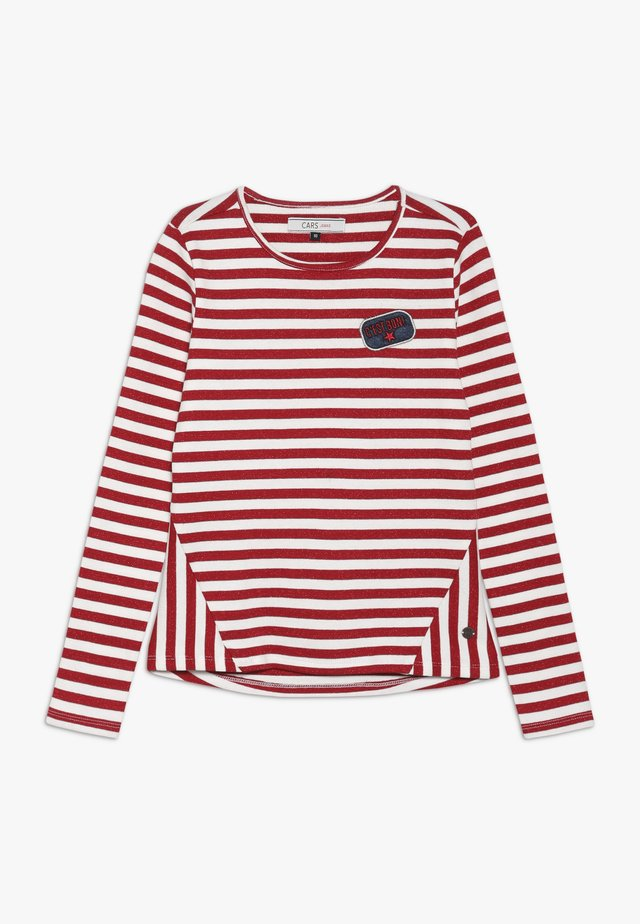 KIDS FRONA STRIPE - Long sleeved top - red