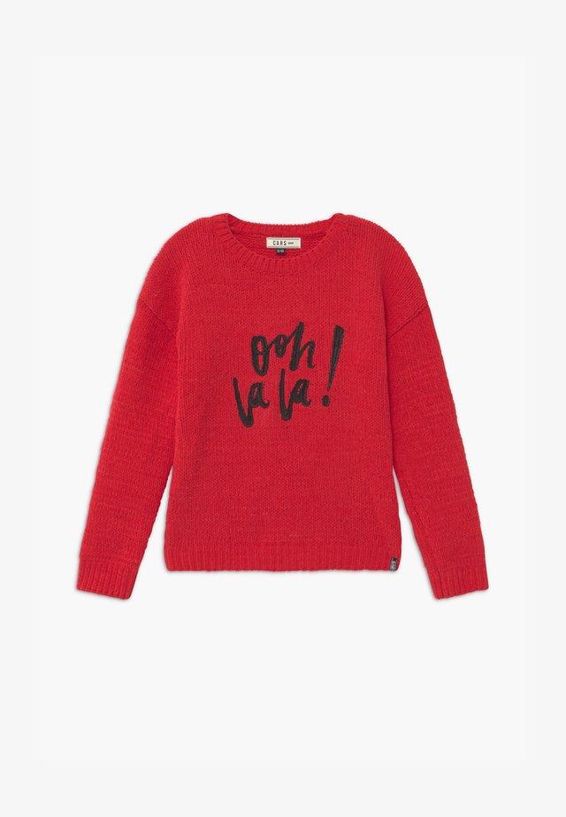 DAVINA - Stickad tröja - red
